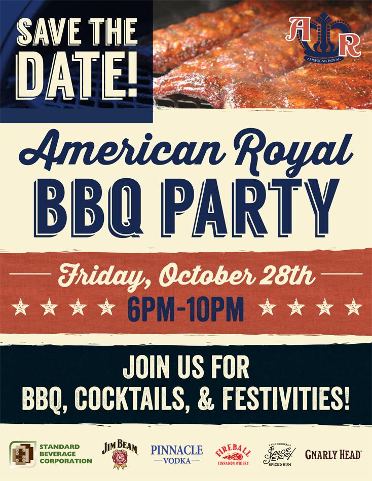 american royal bbq save the date hello mer design illustration