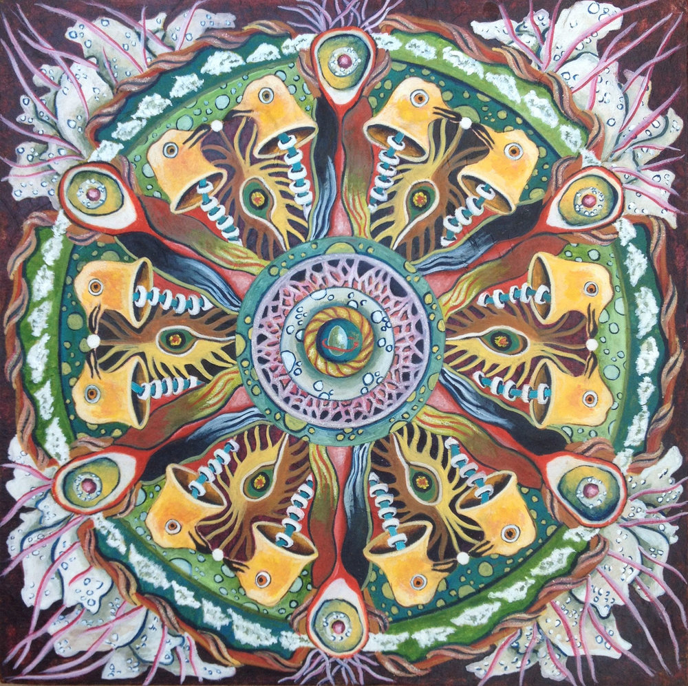 Bird Heads Mandala
