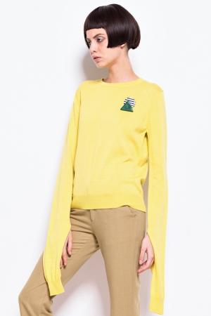 Yellow extra long sleeve sweatshirt ( 55$ )