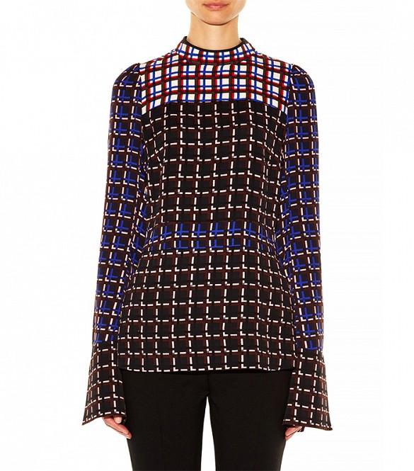 Marni - windowpane print crepe blouse ( 1200$ )