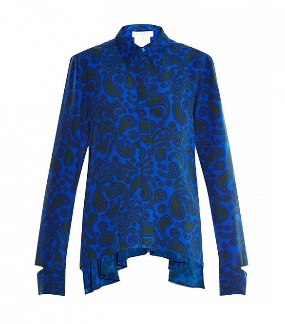Stella McCartney    Lindy Paisley-Print Silk Shirt   ($925)