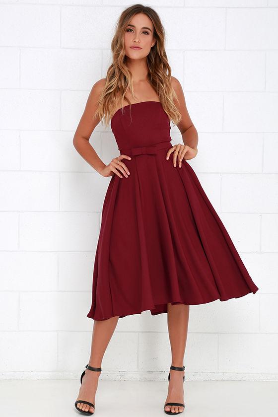 Lulus Wine Red Dress (79$)