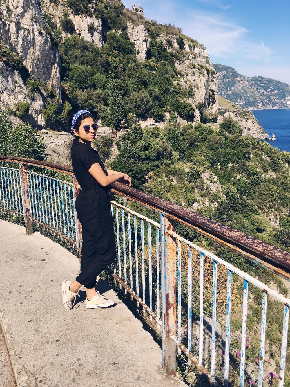 On the way to amalfi
