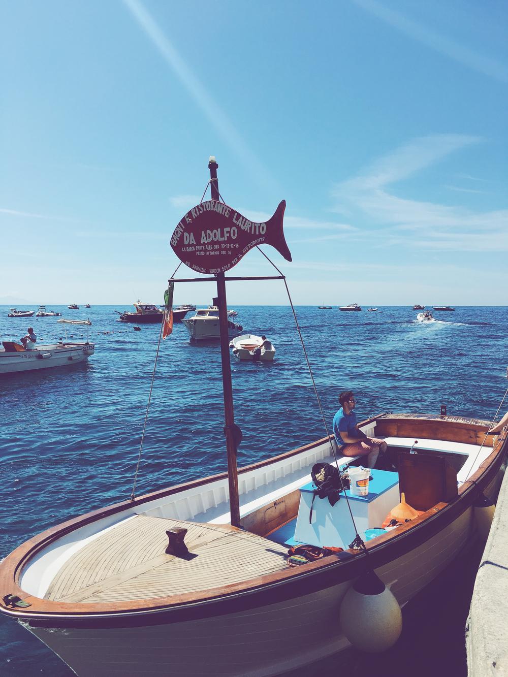 Boat to Da Adolfo