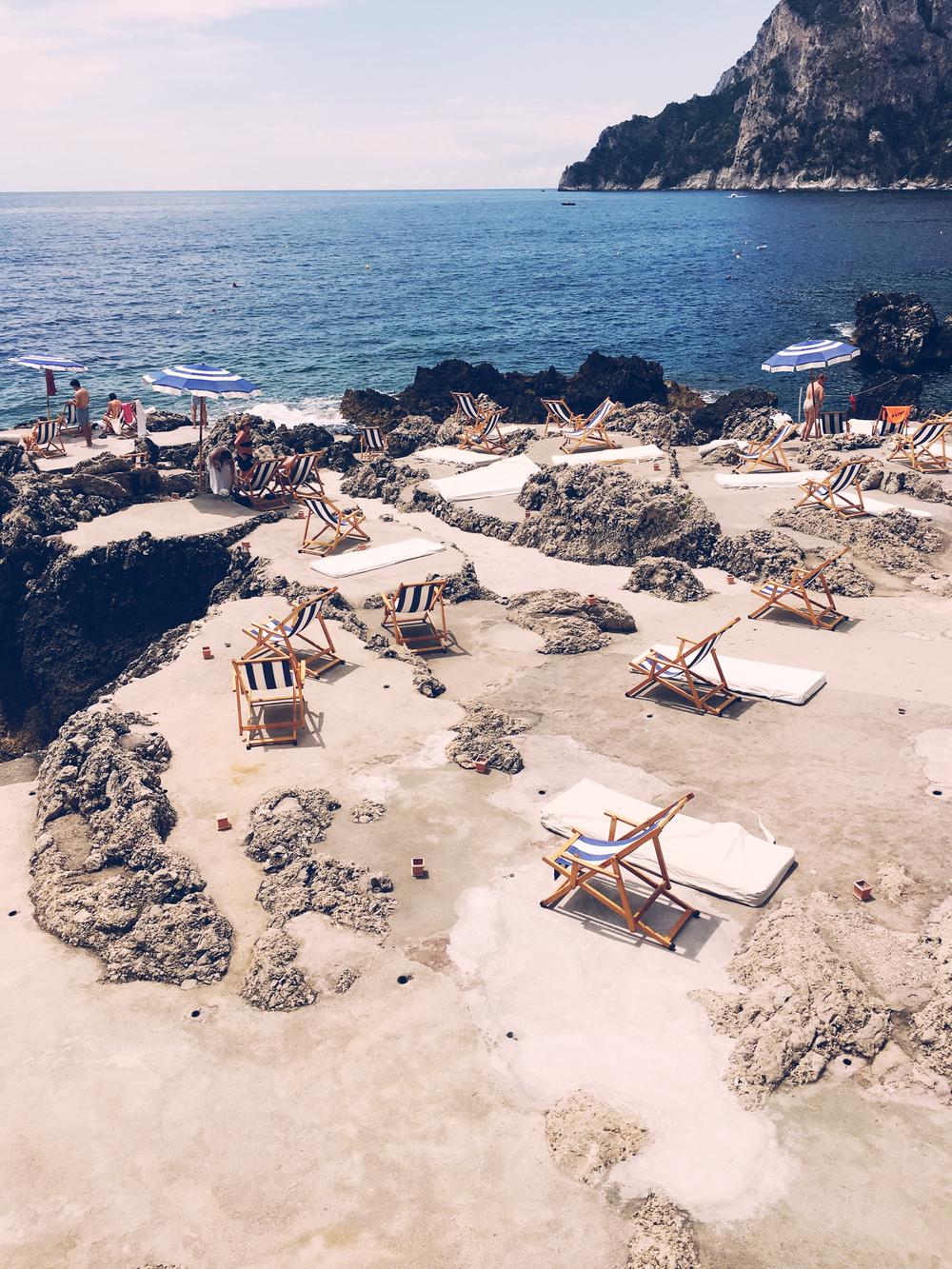 The beach at - La Fontelina