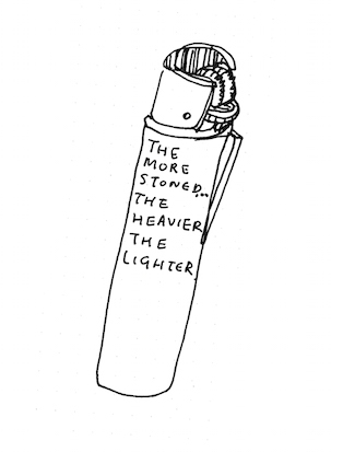 the heavier the lighter