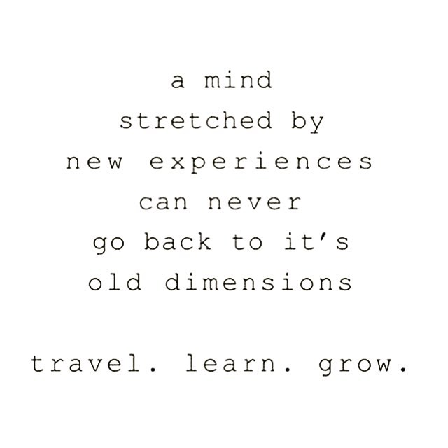 Love this via @thelaborganics 💕 For me two things have shaped how I now see the world and my place in it..... ✨Travel ✨ At the age of 23 I went backpacking around the world 🌍 for 2 years. It was one of the most amazing times of my life, exhilarating, exciting, often scary and boy did I grow in that time. My eyes were opened to a world I never knew existed and to experiences I never even knew I wanted. Travel changes you as a person, it enriches you way beyond anything you can get from material sources. ✨ ✨Personal Development✨ I have been on a personal growth journey since I was a teenager (loooong time ago 😝) I love to learn about the mind, body and spirit, to push myself out of my comfort zone and try new things, do things that scare the shit out of me and although not everything has been my cup of tea, I have loved and grown from the experience ✨ . So wonderful people, go out there and see new places, try new things, expand your minds, open your heart and souls and see where it takes you 💕
