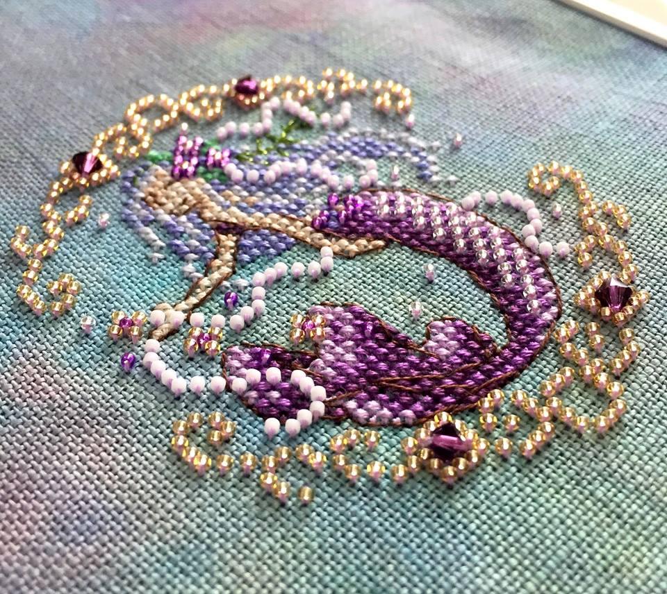 Amethyst mermaid from the Treasures of the Deep SAL