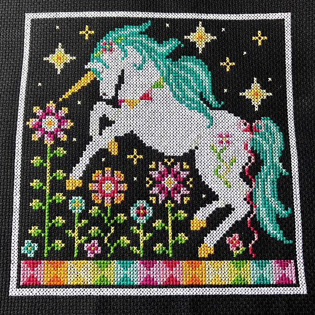 Rainbow Unicorn is a colourful stitch for the winter blues. This is a PDF pattern and can be found on my website, link in bio! . . . #crossstitch #pointdecroix #crossstitching #xstitch #shannonchristinedesigns #shannonwasilieff #crossstitchpattern #crossstitchdesign #crossstitchpdf #crossstitchdesigner #craftpattern #needlework #needleart #crossstitchmodel