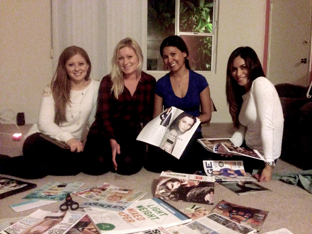 Real friends have vision board parties!