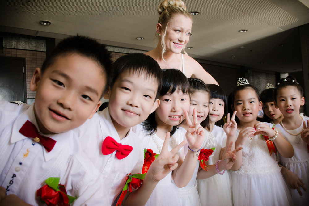 My young English learners in Taiwan on graduation day.
