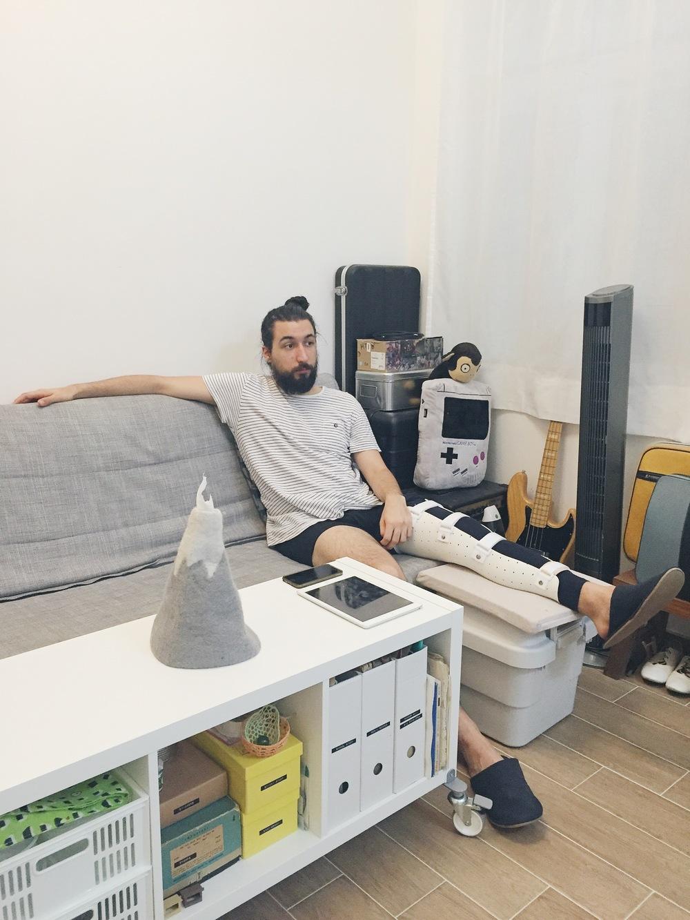 Posing sitting down
