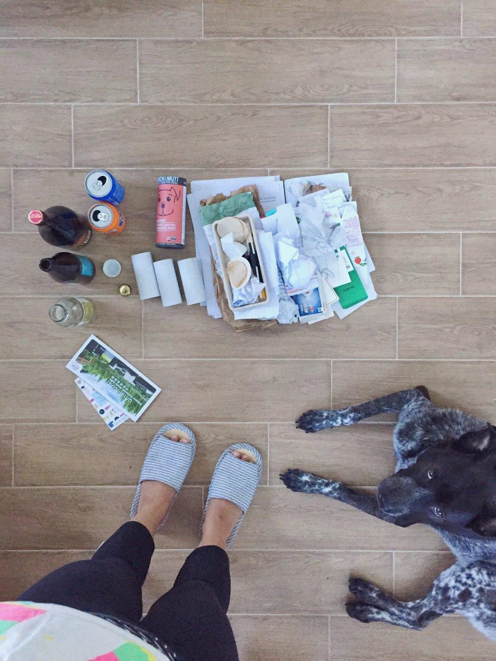 Non-plastics, recycled.