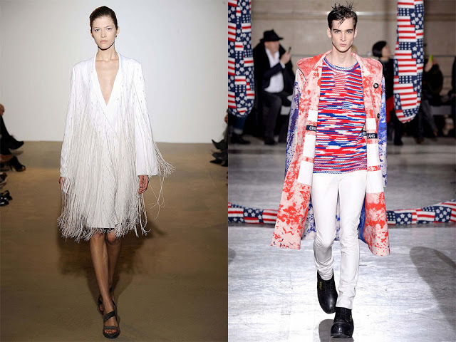 Jil Sander Spring 2009 (left); Raf Simons Fall 2014, in collaboration with artist Sterling Ruby (right)