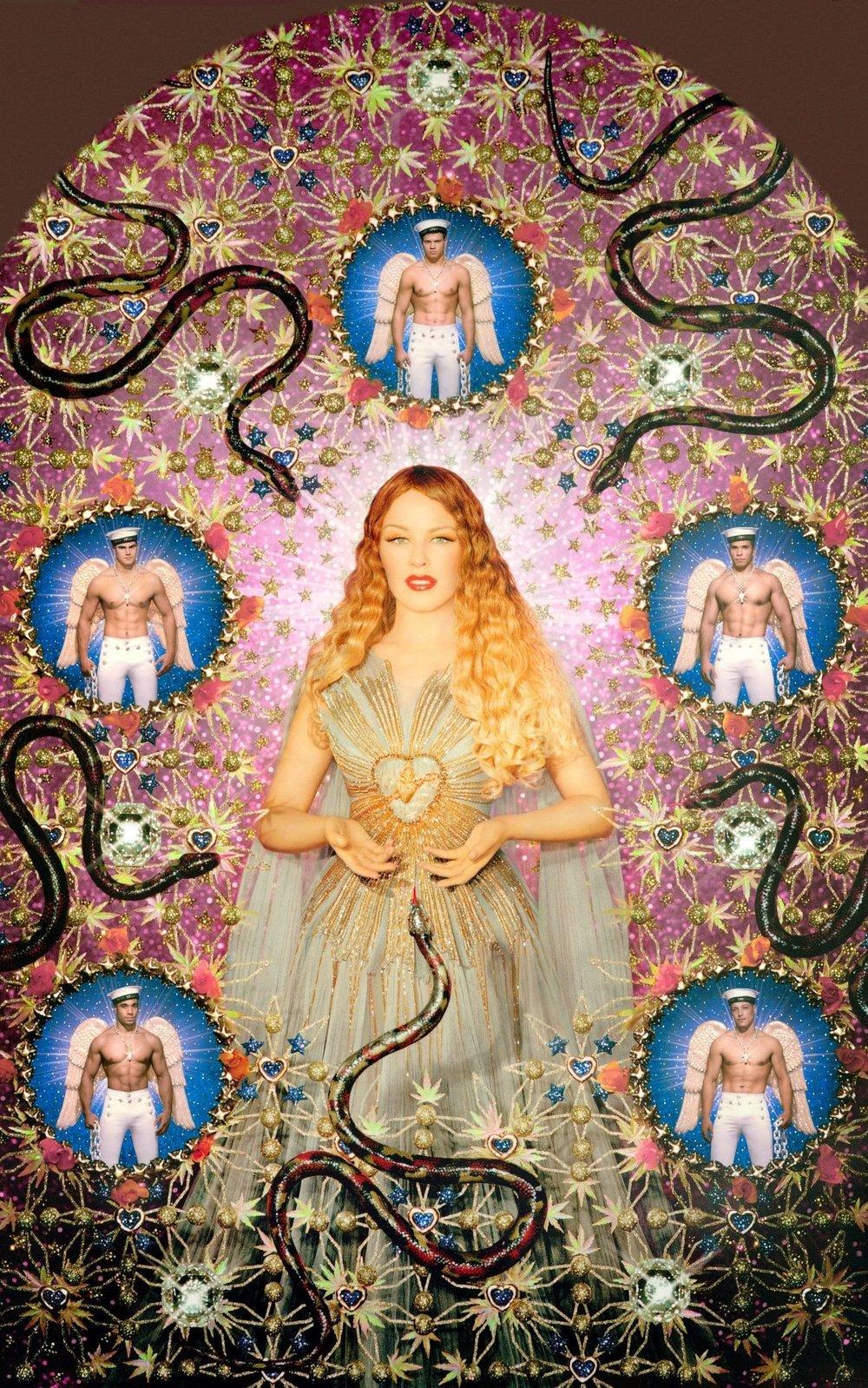 """Pierre et Gilles' """"La Vierge aux Serpent"""" with Kylie Minogue wearing Jean Paul Gaultier, 2008."""