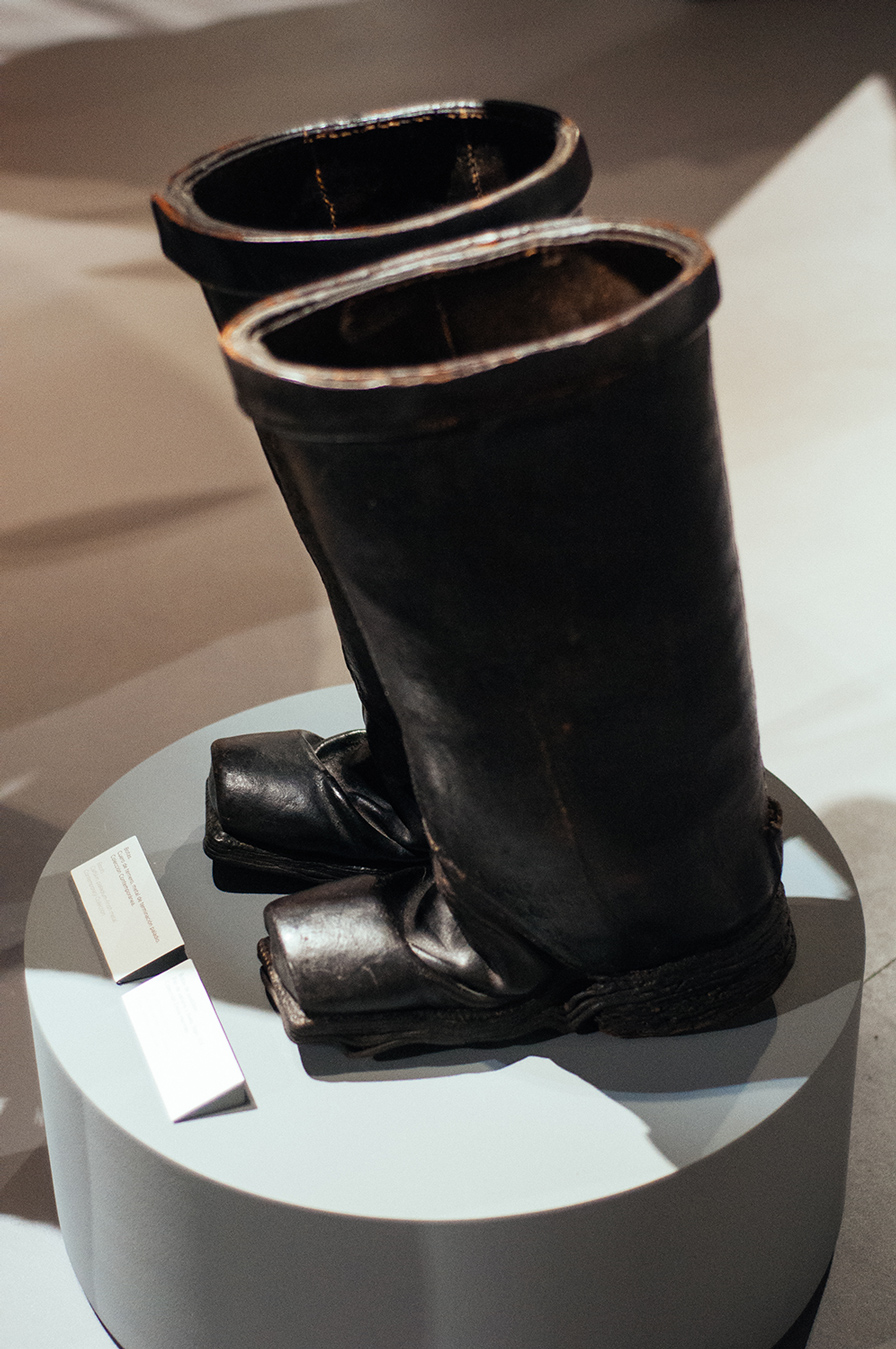 Postillion boots in bovine and ox leather from the XIX.