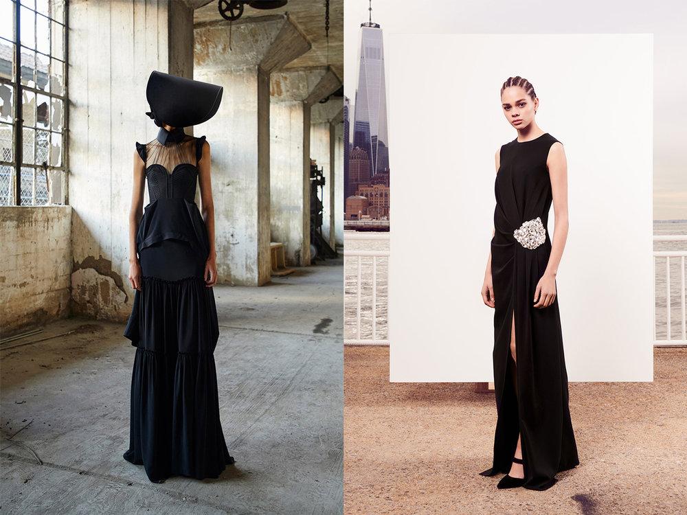 Left: Vera Wang Spring Summer 2018.  Right: Oscar de la Renta Pre-Fall 2018.
