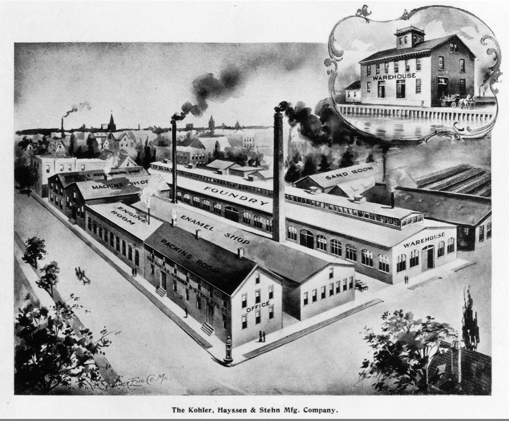 The Kohler factory burns to the ground and the company moves to a new facility in Sheybogan, adding an enameling shop.