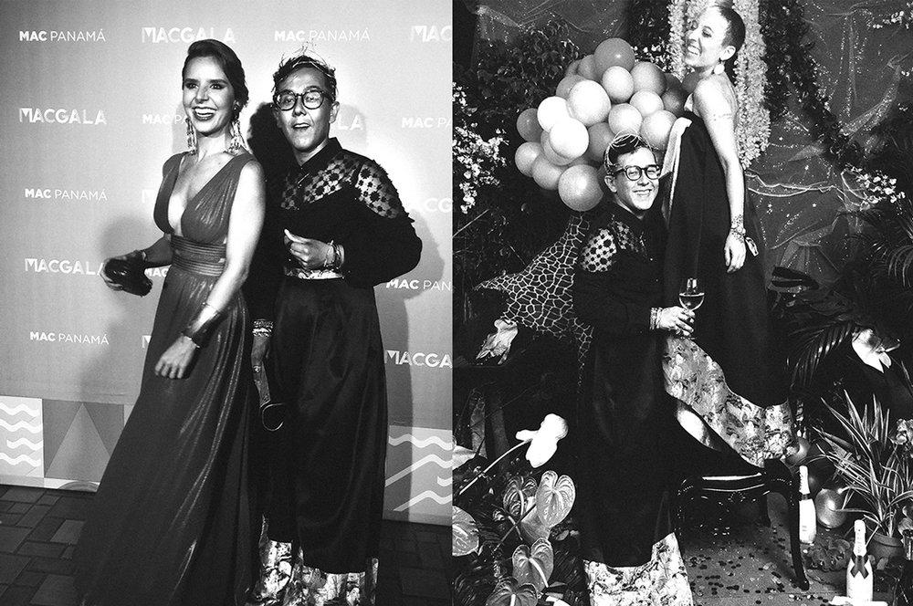 Carolina Iglesias  wearing  Lupita Barriga . / Me and  Eva Mondehard  both wearing  Sousa Pitti .