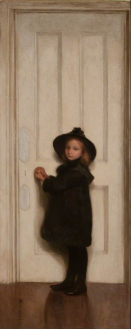 The Little Girl at the Door, Harriet Halhed (1850–1933), Canterbury City Council Museums and Galleries