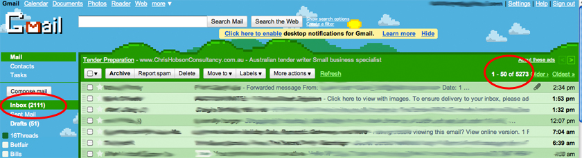 Cluttered Gmail