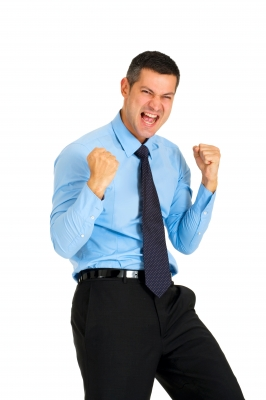 Businessman-Cheering