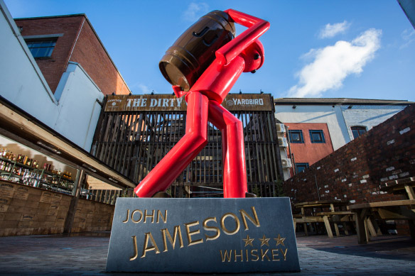 Jameson Whiskey Sculpture