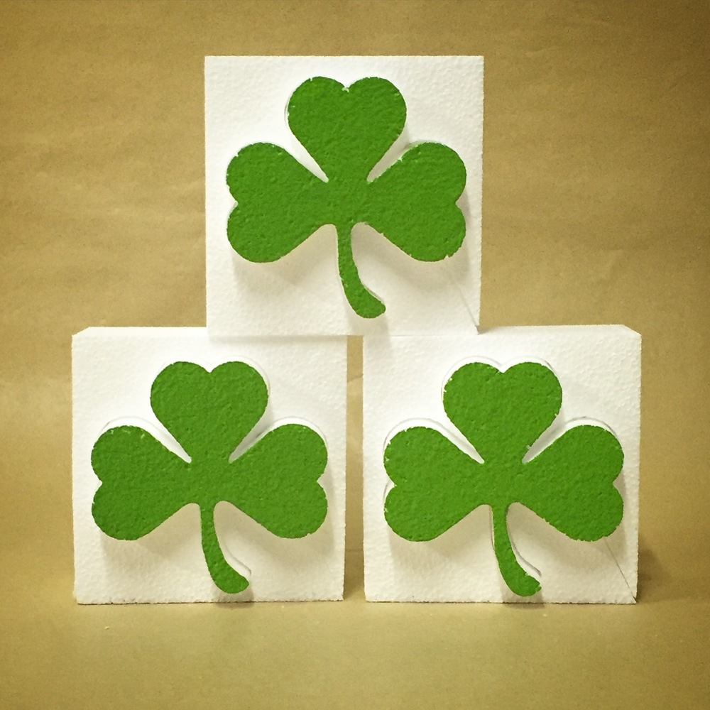 "4"" Polystyrene Shamrock - 1 Free with Every Order in March"
