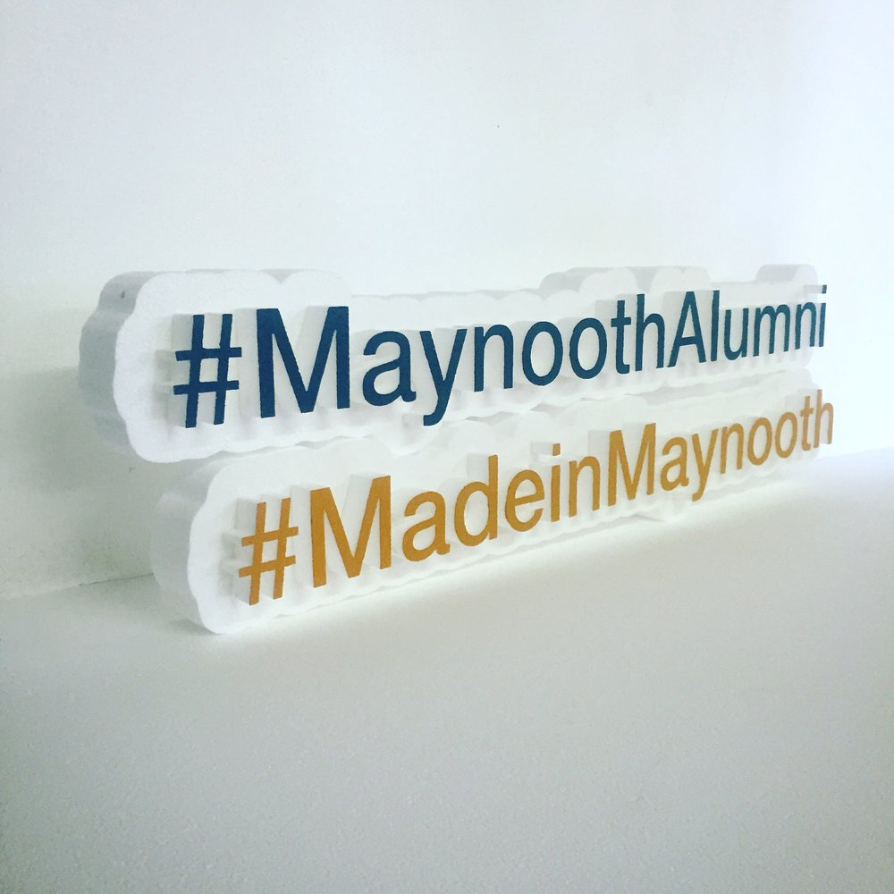 Maynooth University Hashtag Props