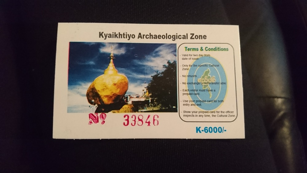 Foreigners have to pay a fee (6,000 kyats per person) which gets them a two-day pass.