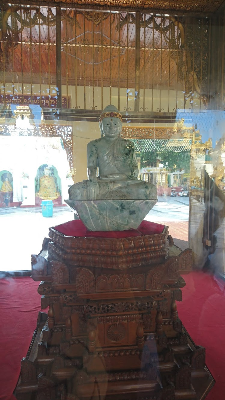 Created in 1999, this jade Buddha was carved from 324kg of jade from northern Burma, and is also inlaid with gold, rubies, and diamonds.