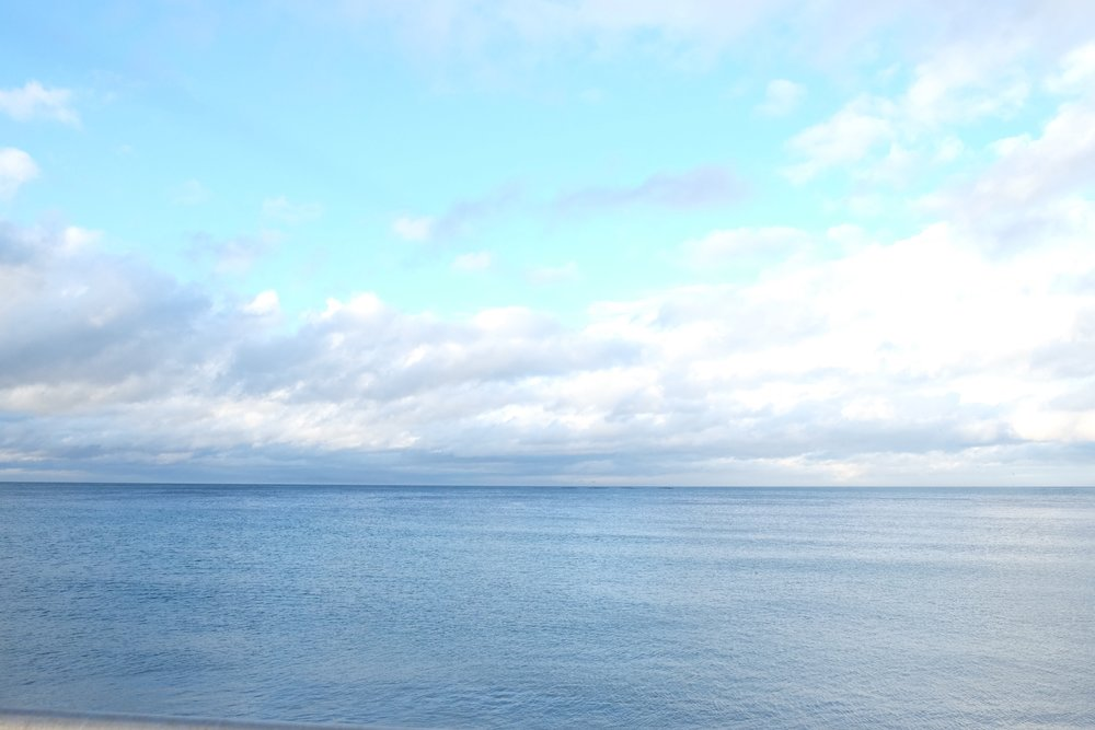 The Irish Sea. Taken when we were in Glenarm.
