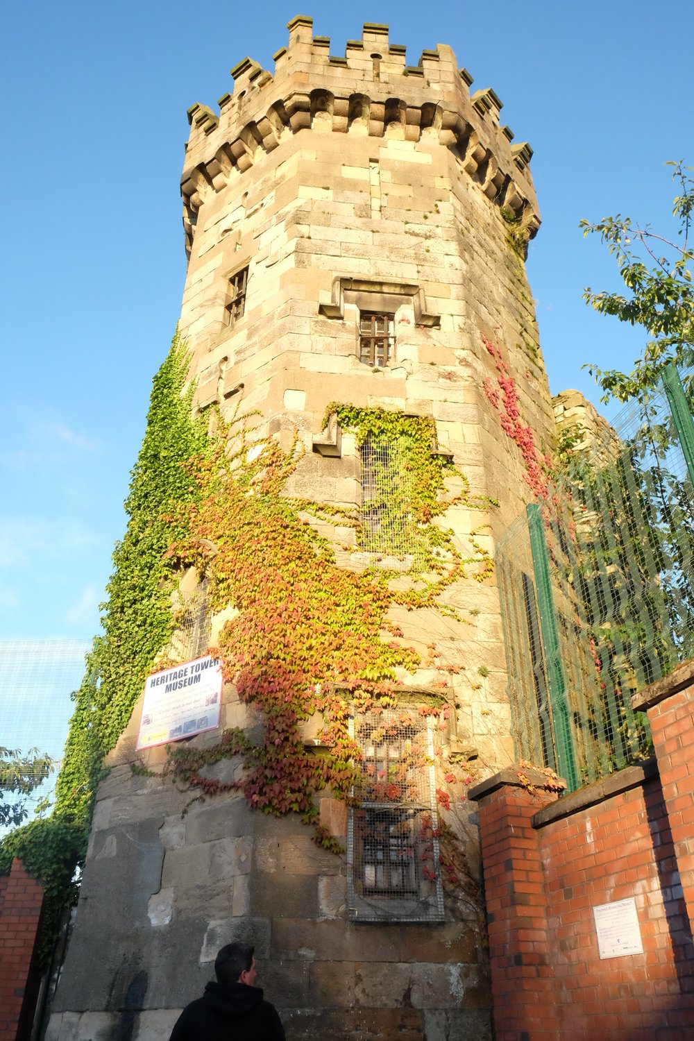 Heritage Tower, the last remaining part of Derry Jail. Officially closed in 1953, it now serves as a museum.