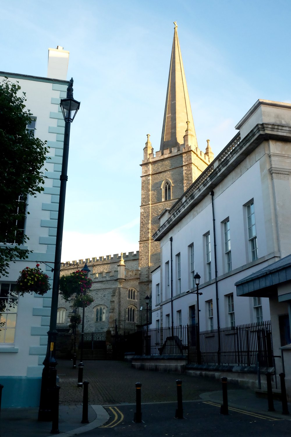 St. Columb's Cathedral, named for St. Columba, who established a monastery here in 546 AD which is the earliest reference of Derry's existence. This was the first Protestant cathedral in the world.