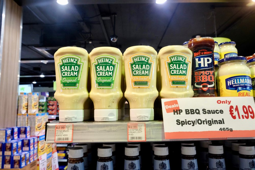 Stopped at a convenience store to pick up something to drink, and came across this monstrosity. Honestly, what is salad cream? (Neil says it's UKIP mayonnaise).