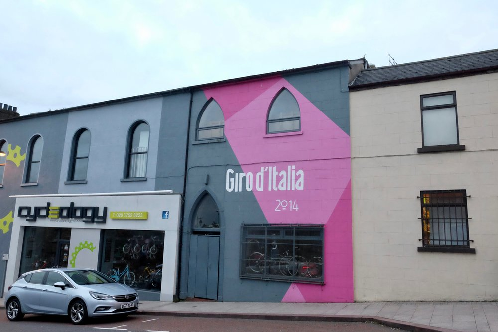 For two days in May 2014, Armagh painted its city pink in honour of the Giro d'Italia which was passing through Belfast, Armagh, and Dublin that year.