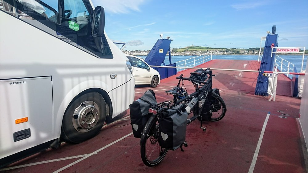 The first-ever tandem on the Strangford ferry?