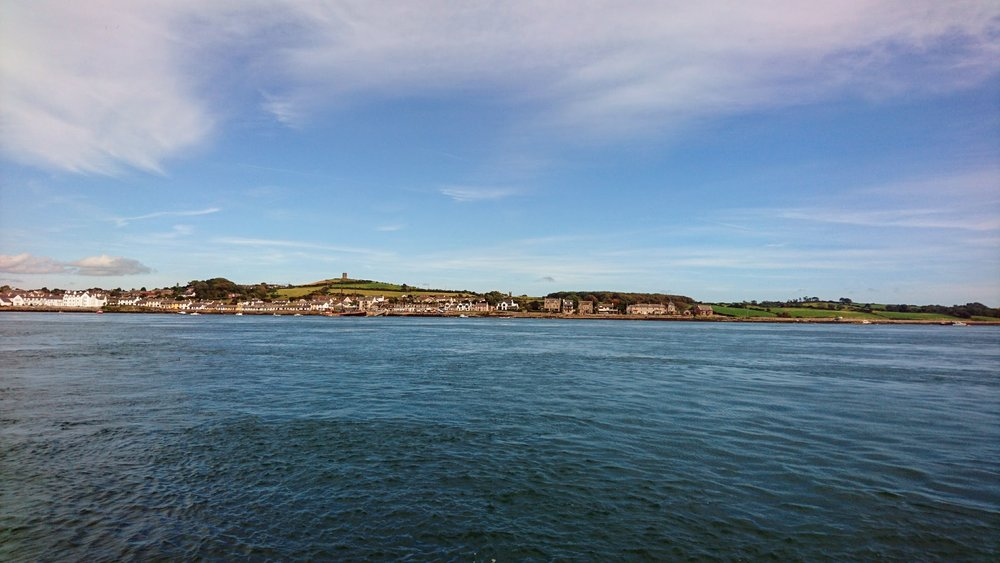 The imaginatively-named Portaferry. It's a port with a ferry.