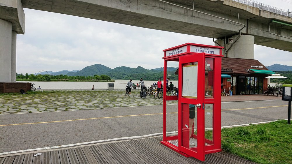 They really pick some great locations for these phone boxes.