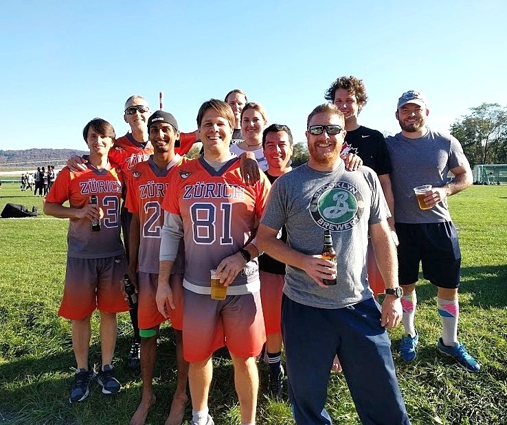 Though they didn't bring home the SwissCup, the Intruders set a tournament record for post game beer cups.