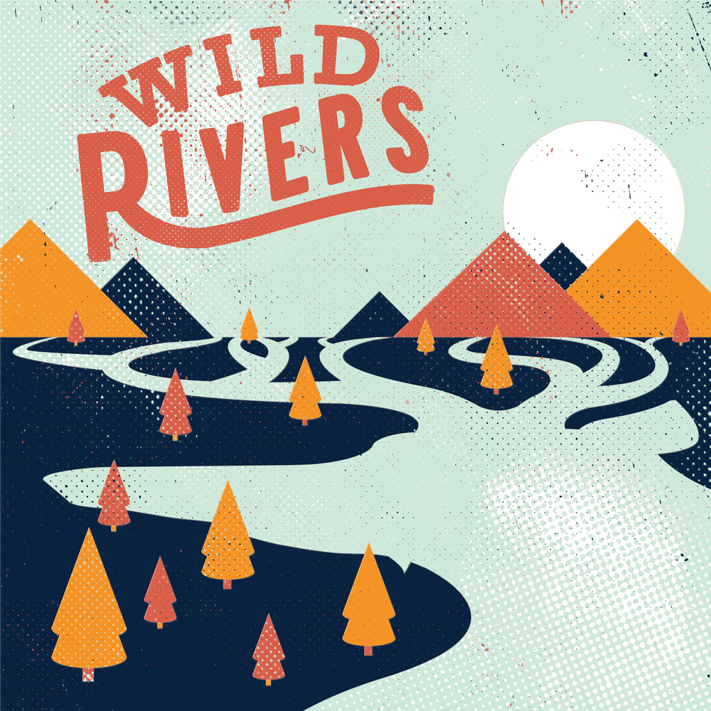 Artwork for 'Wild Rivers', the debut self-titled album!  Design by Robert John Paterson