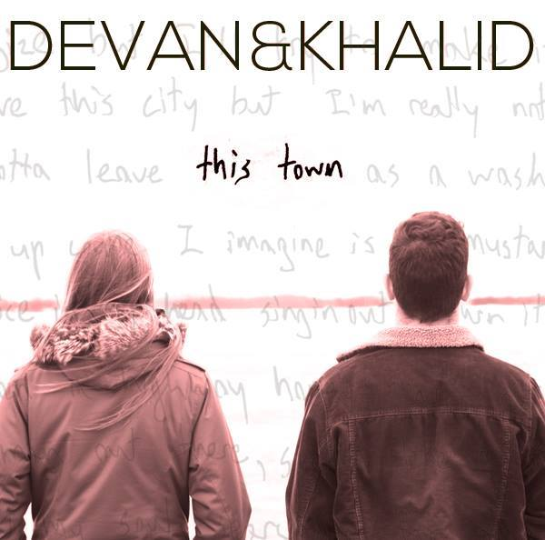 Artwork for Devan & Khalid's first EP, 'This Town'. Find it at devanandkhalid.bandcamp.com