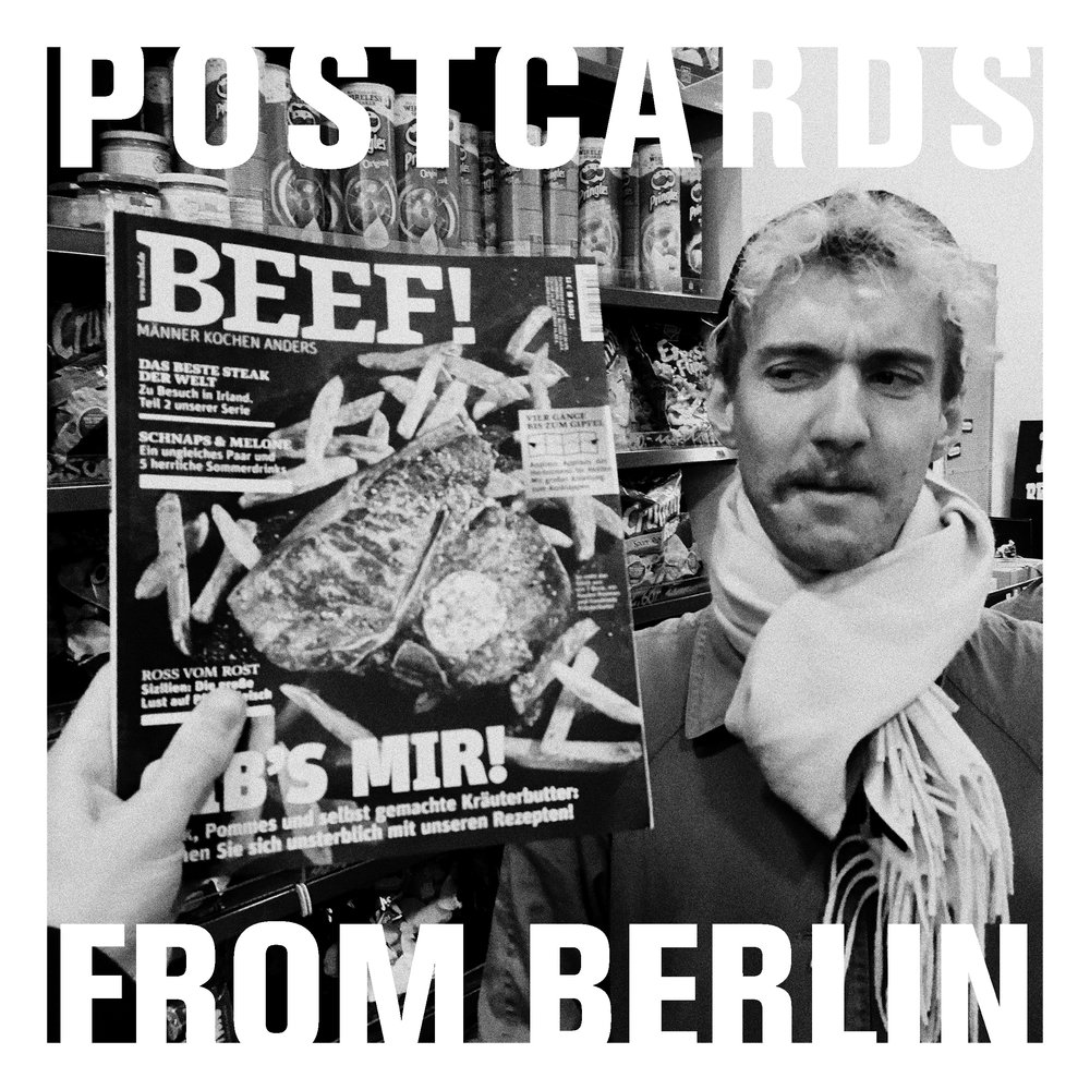 Postcards From Berlin is 'weekly' conversation about trying to make art in a new city, by artist Arthur Laidlaw and musician Edward Bailhache.   If you would like to write to Postcards From Berlin with a question for the podcast, please address your correspondence to:   East of Elsewhere c/o Arthur Laidlaw, Büschingstraße 35, 10249, Berlin, Deutschland