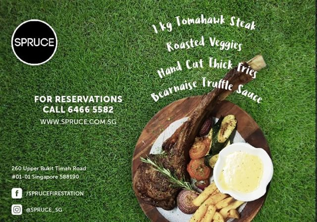 Grab your #friends and sink your teeth into our juicy 1kg #Tomahawksteak #special (limited time only) Served with #roasted #veggies, our signature crispy hand cut thick fries, and #Bearnaise #Truffle sauce, this medley of textures and #flavors is perfectly complemented with a glass or red #wine or #beer!  Hurry now while stocks last! #hungry #foodiessg #singapore #bukittimah #oldfirestation #thirsty #eat #drink #sg2018 #westsg #westsidesg #eatsg #foodporn #foodsg #steaks #bigsteak #juicy