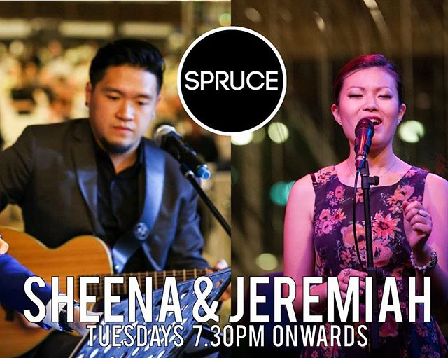 Join Sheena and Jeremiah tonight for an evening of nonstop top 40s and alternative rock hits! #livemusic #acousticbands #singapore #foodiessg #sprucesg #spruce #bukittimah #hungry #thirsty #beer #restaurantsg #sg2018 #may2018 #sgmusic #musos #liveband #livebands #livebandssg