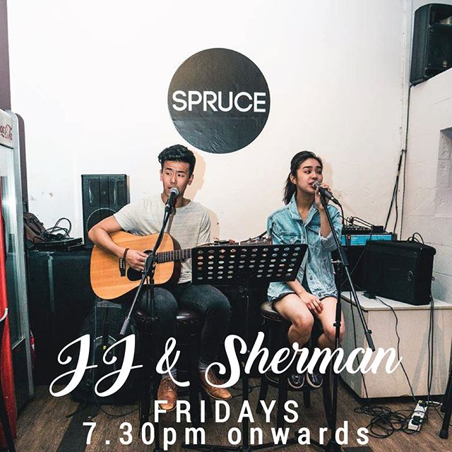 It's the end of the week! Join us at the Old Fire Station tonight, from 730pm to 1030pm! JJ and Sherman are on stage, bringing you all your favorite top 40s hits so get your requests ready! #livemusicsg #upperbukittimah #Spruce #sprucesg #oldfirestation #acousticcover #musiclovers #jjSherman #musiclive #sgmusic #liveband #livemusic #singapore #goodfood #chillvibes #newmenu #coldbeer #beer #weekend #goodfood #TGIF #foodies #hungry #musiclover #livemusiclover