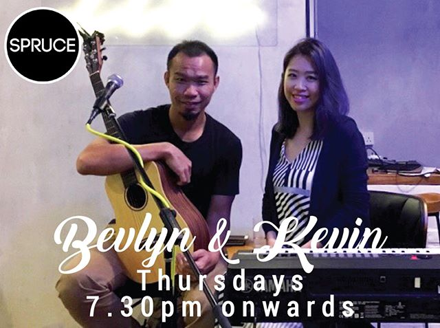 Join Bevlyn and Kevin tonight for a relaxing evening of live music as we come closer to the end of the week! Be sure to call us at 6466 5582 to make your bookings to get the best seats in the house! #livemusicsg #upperbukittimah #Spruce #sprucesg #oldfirestation #acousticcover #musiclovers #BevlynKevin #musiclive #sgmusic #liveband #livemusic #singapore #goodfood #chillvibes #newmenu #coldbeer #beer #weekend #goodfood #TGIF #foodies #hungry #musiclover #livemusiclover