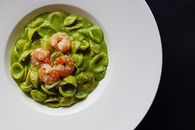#Orecchiette #pasta with #sea #prawns in #zucchini, #spinach & #garlic #cream #sauce, our #Signature #Spruce Pasta is a definite #must-try dish when visiting the old fire station. Call us now at 6466 5582 for reservations! #hungry #foodiessg #singapore #bukittimah #oldfirestation #thirsty #eat #drink #sg2018 #westsg #westsidesg #eatsg #foodporn #foodsg #foodie #juicy
