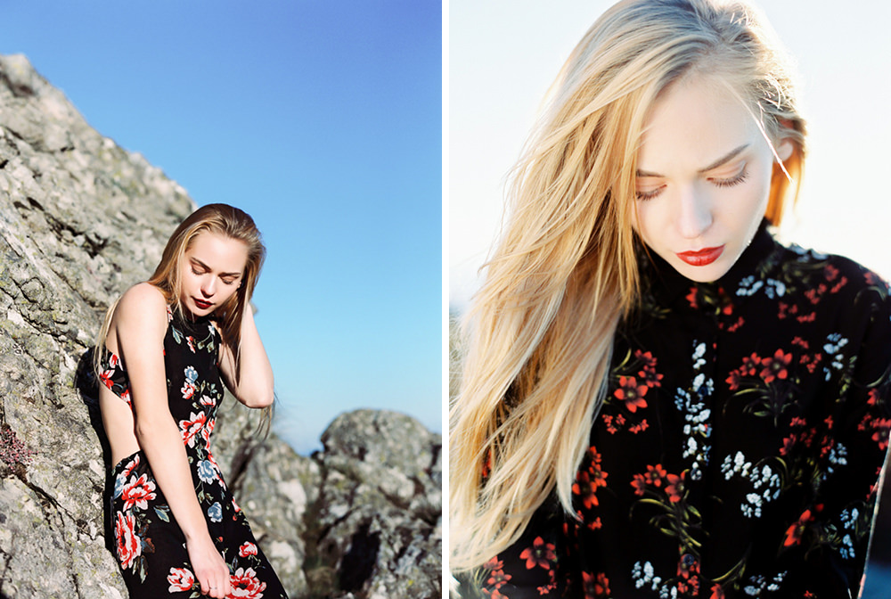 fashion portrait photography in a beautiful landscape in Algarve, Portugal