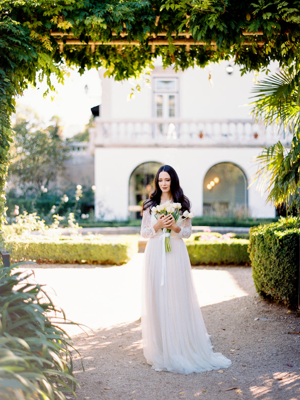 film fineart wedding photography bride dress